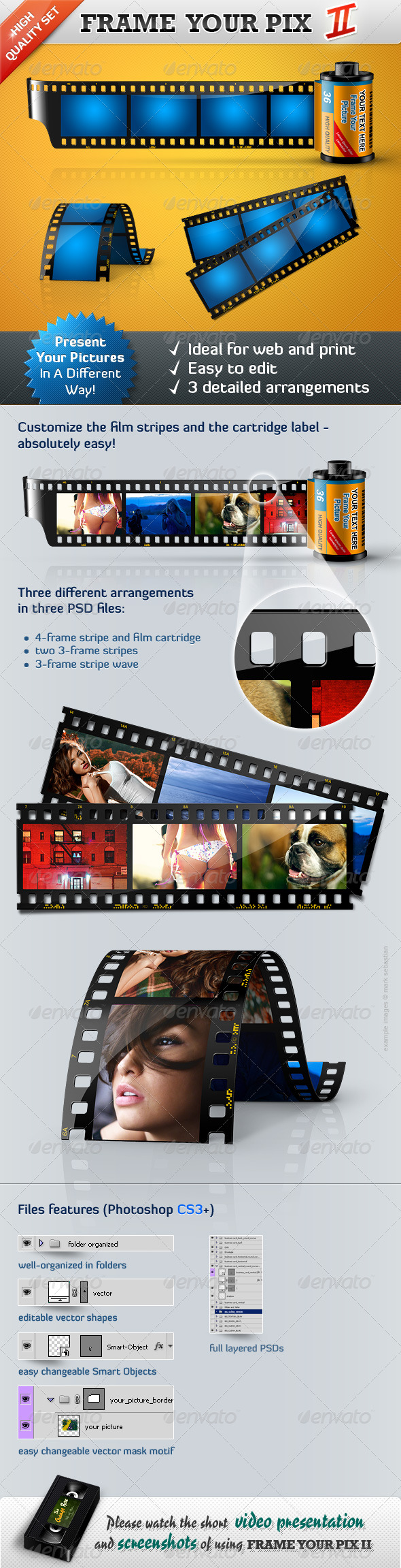 GraphicRiver Frame Your Pictures II Film Stripes 223081