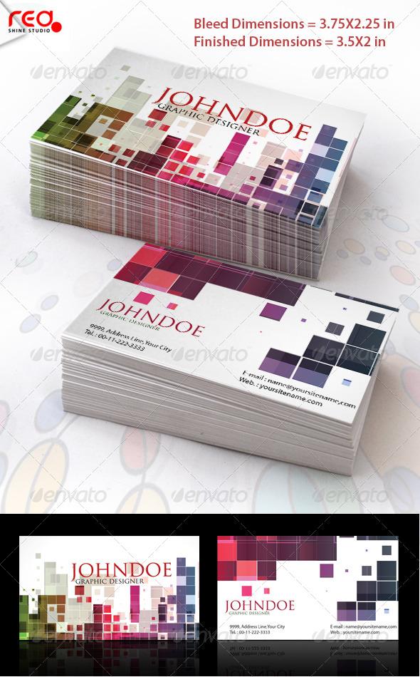 GraphicRiver Mosaic Stylish Business Card Set 223176