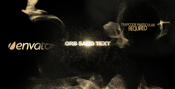 After Effects Project - VideoHive Orb sand intro 3 in 1 223234