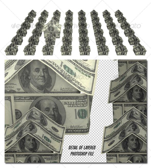 Graphic River Money neighborhood Graphics -  3D Renders  Objects 73573