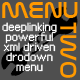 MenuTwo - deeplinking, XML driven, dropdown menu - ActiveDen Item for Sale