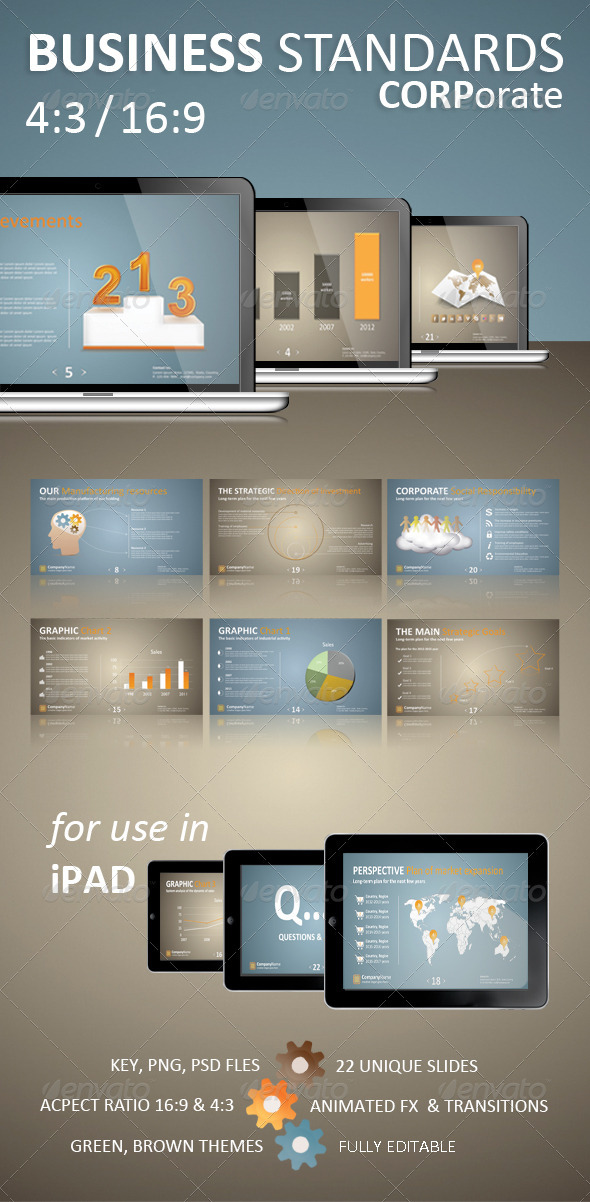 GraphicRiver Business Standards Keynote Corporate Presentation 1617898
