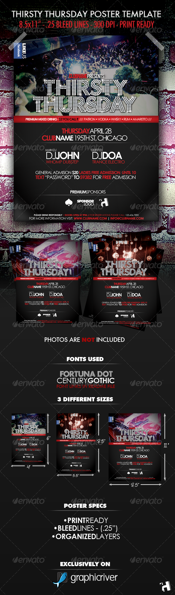 GraphicRiver Thirsty Thursday Club Poster Flyer Template 224483