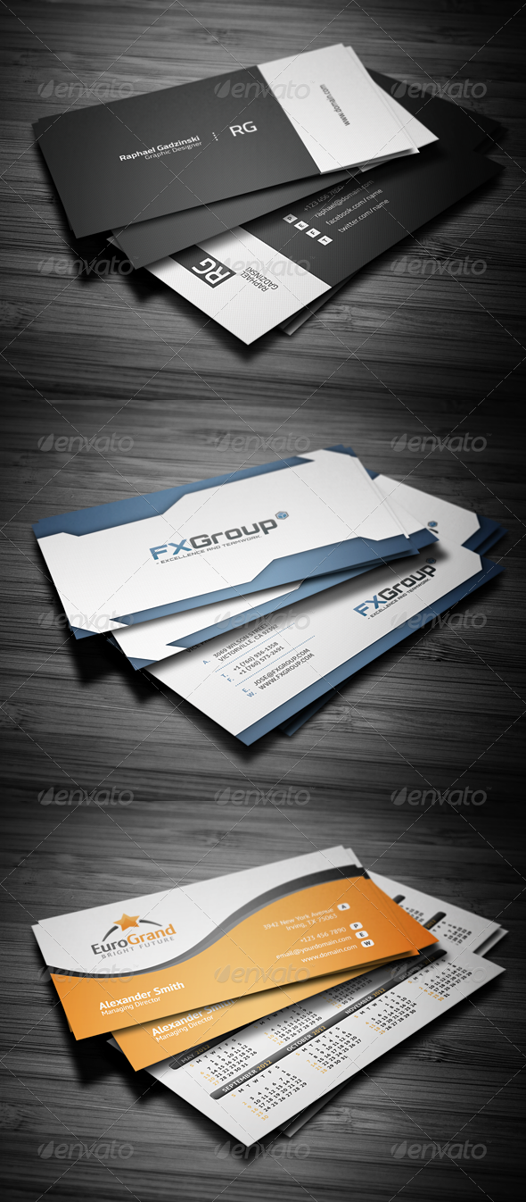Graphic River Business Cards Bundle #1 Print Templates -  Business Cards  Corporate 1922161