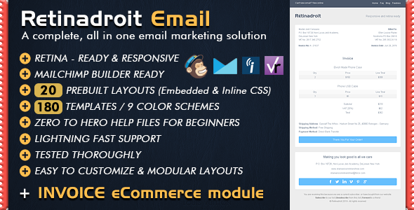 Responsive email template invoice template mailchimp for Mailchimp ecommerce templates
