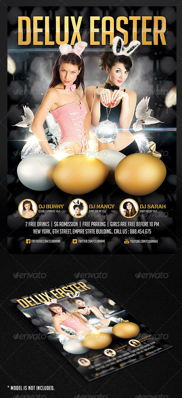 GraphicRiver Deluxe Easter Flyer 1922368