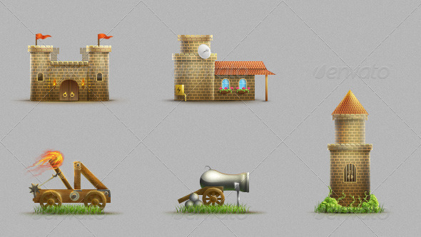GraphicRiver Castle Set 104616