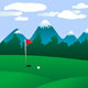 Golf field landscape - GraphicRiver Item for Sale