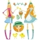 Easter girls - GraphicRiver Item for Sale