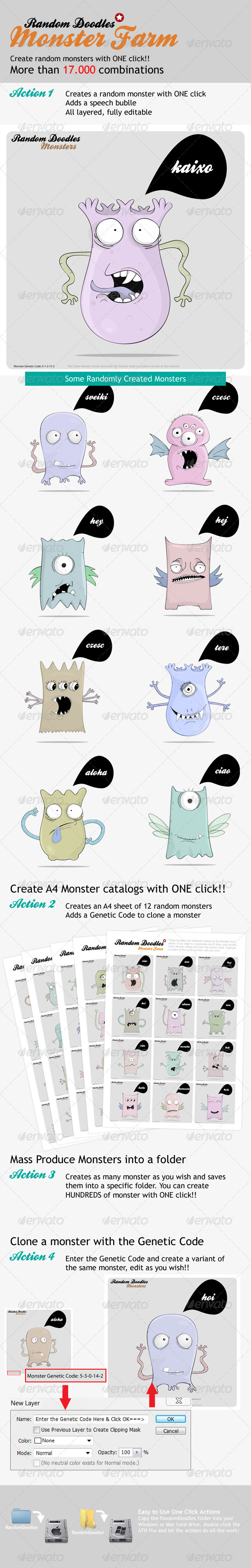 GraphicRiver MonsterFarm Random Doodle Generator 1925315