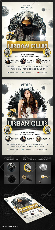 GraphicRiver Urban Club Flyer 1871535