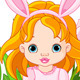 Cute Easter baby girl - GraphicRiver Item for Sale