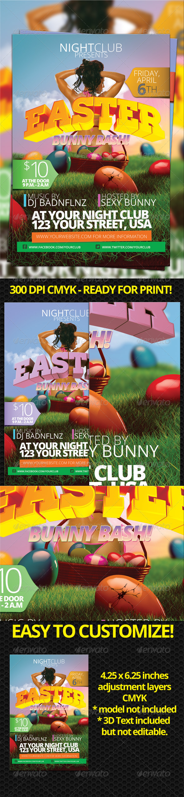 GraphicRiver Easter Flyer 1929356