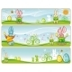 Easter pastel banners - GraphicRiver Item for Sale