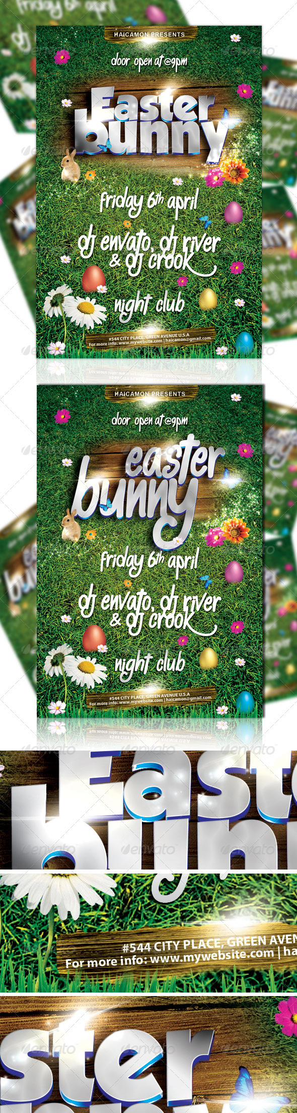 GraphicRiver Easter Bunny Party Flyer Vol 2 1904826