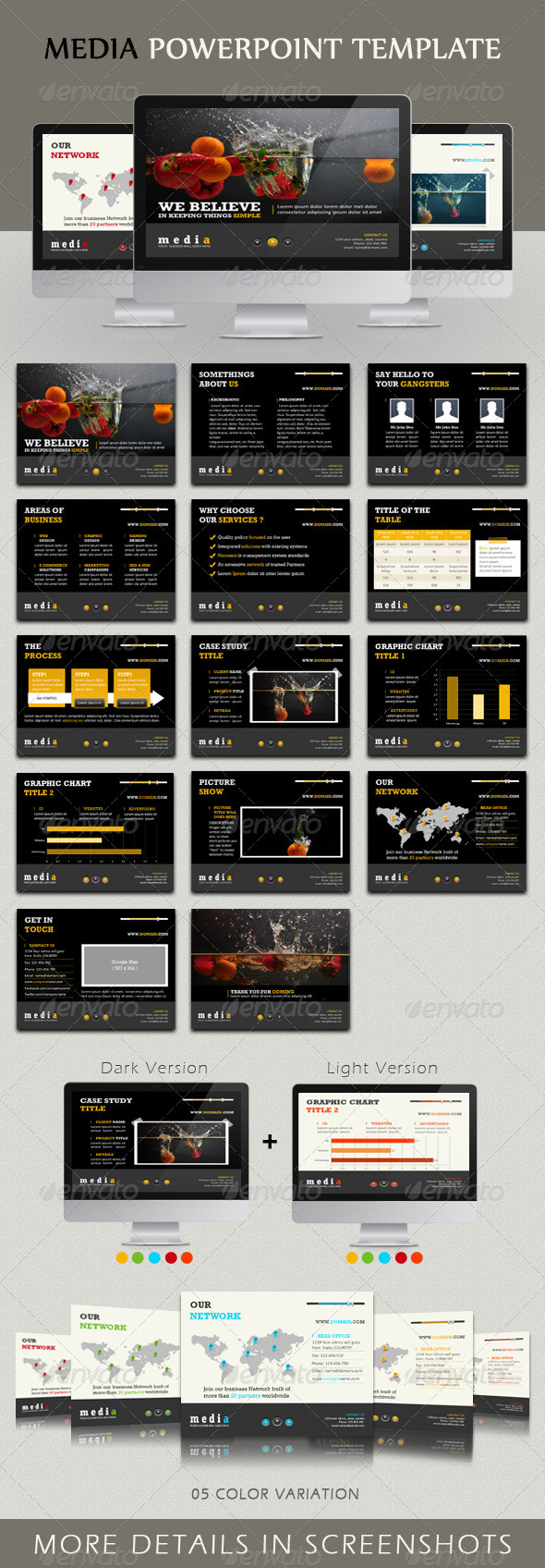 GraphicRiver Media Powerpoint Template 304206