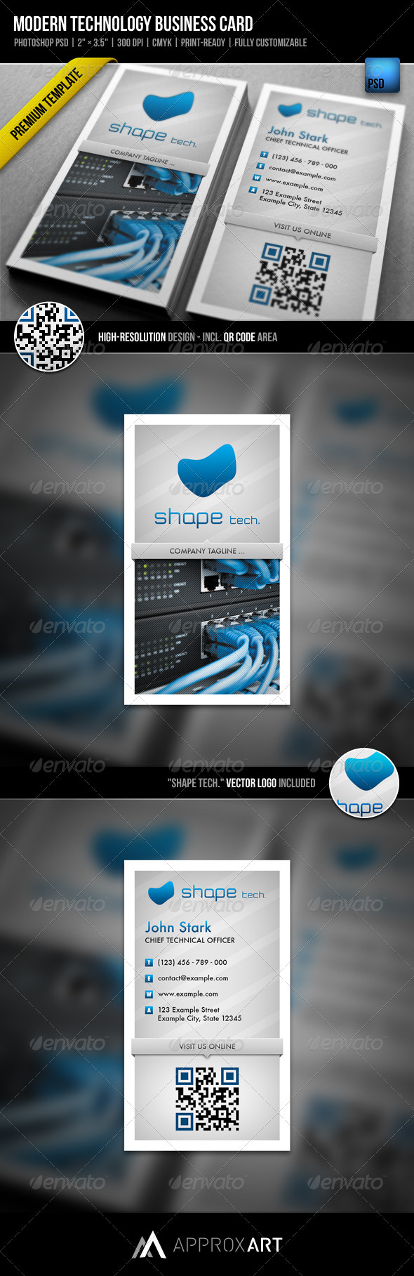 GraphicRiver Modern Technology Business Card 1933141