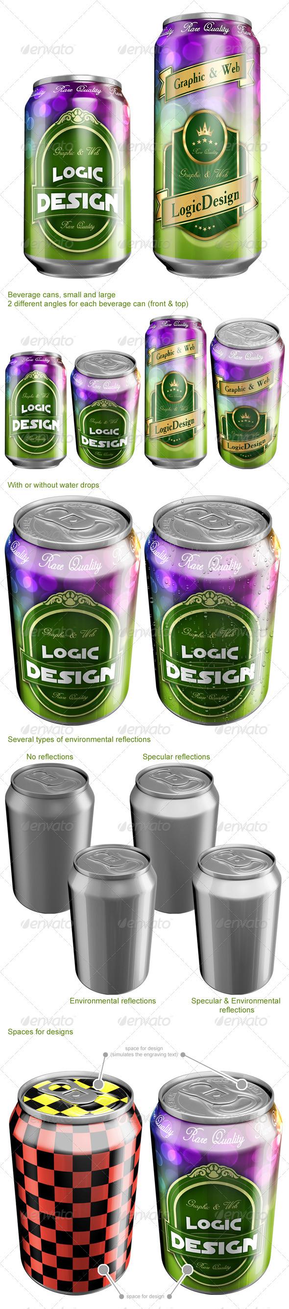 GraphicRiver Beverage Cans Mock Up 1933507
