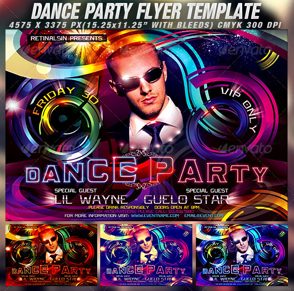 GraphicRiver Dance Party Flyer Template 1202983