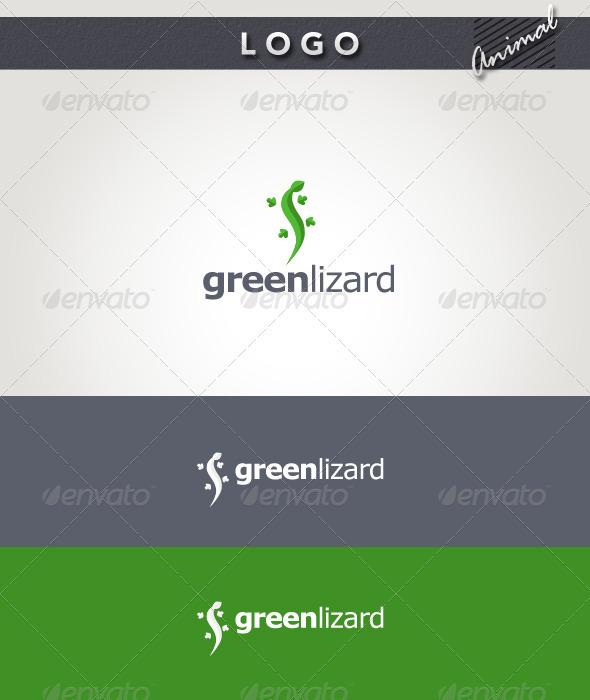 Graphic River Green Lizard Logo Logo Templates -  Animals 1931948