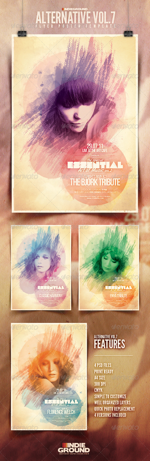 GraphicRiver Alternative Flyer Poster Vol 7 306317