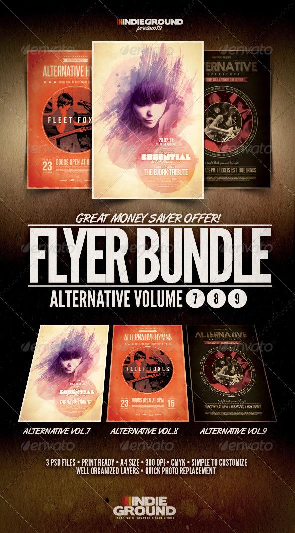 GraphicRiver Alternative Flyer Poster Bundle Vol 7-9 588324