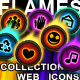 "Collection of 50 web icons ""Flames"" (3 styles) - GraphicRiver Item for Sale"