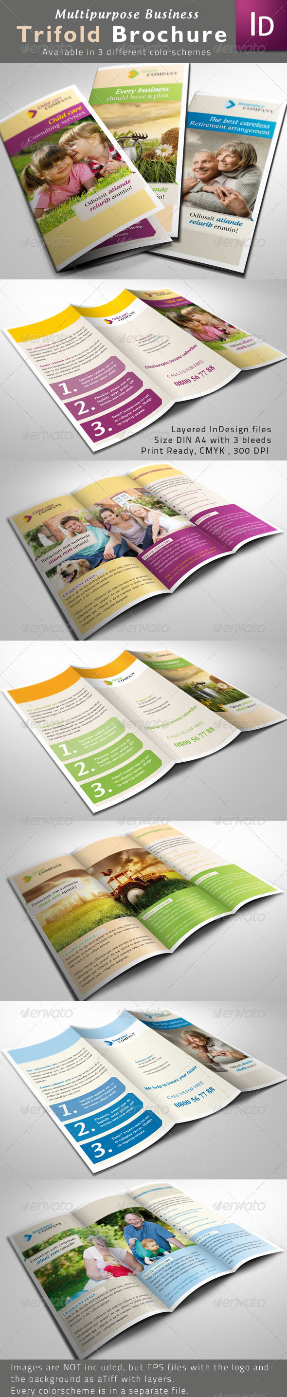 GraphicRiver Multipurpose Trifold Brochures 1936660