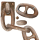 Rusty chain parts - GraphicRiver Item for Sale