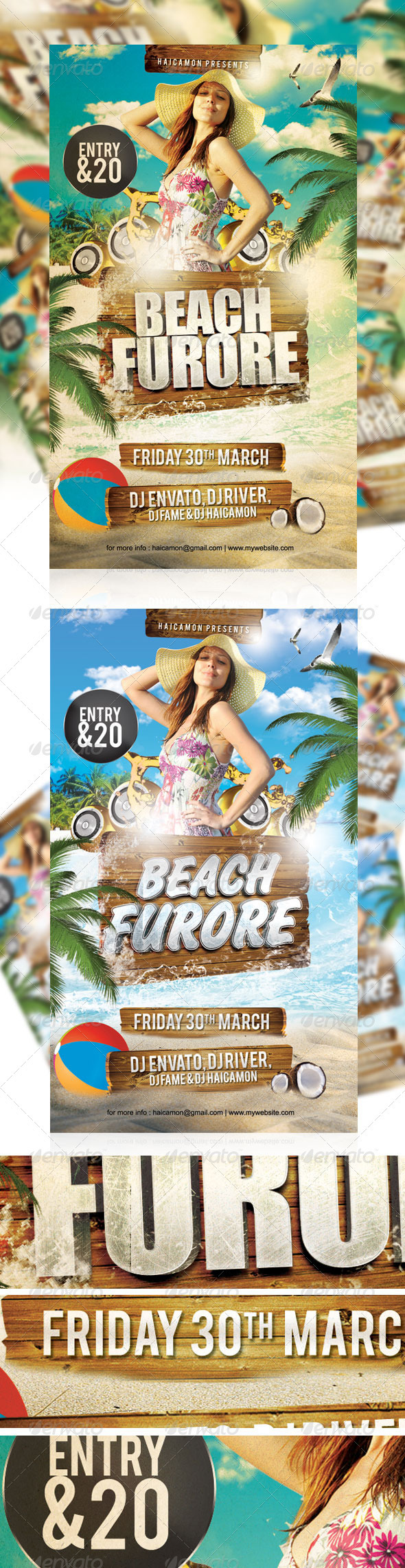 GraphicRiver Beach Furore Party Flyer 1937329