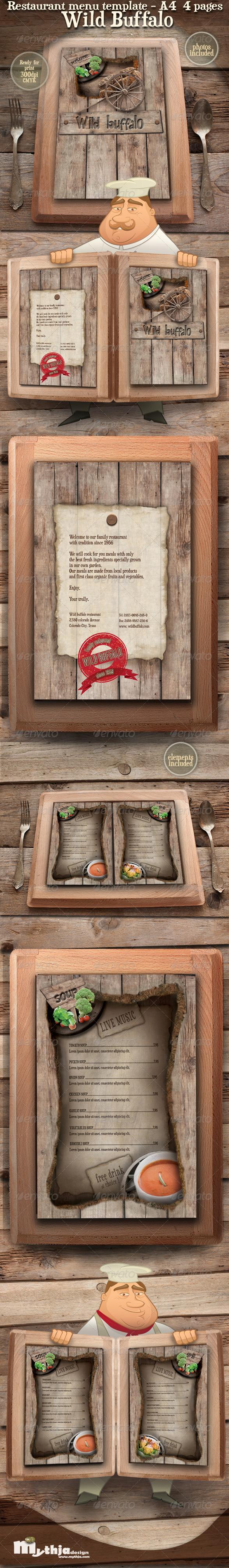 GraphicRiver Restaurant Menu template Wild Buffalo 1582149