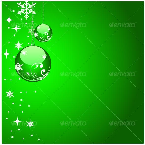 GraphicRiver Green christmas artwork 74941
