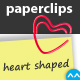 Heart Shaped Paper Clips - Two in One Pack - GraphicRiver Item for Sale