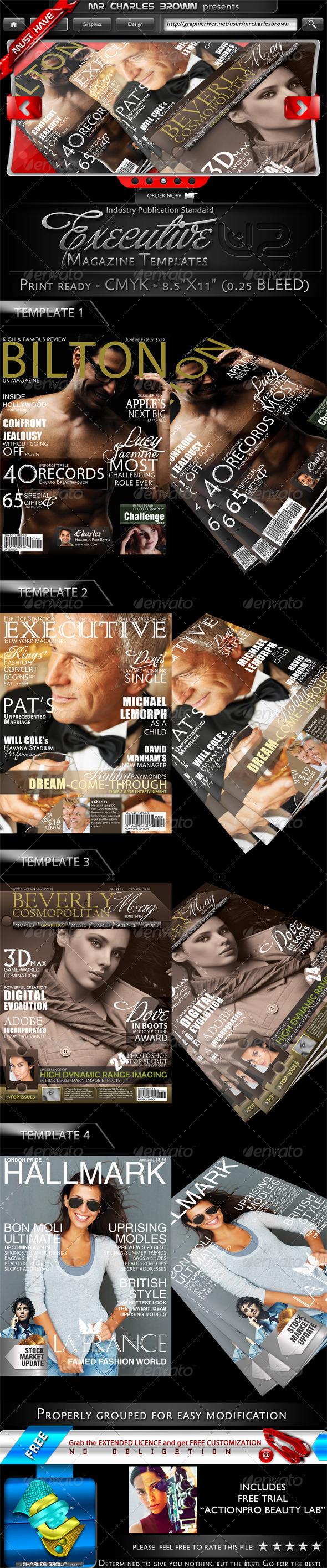 Graphic River 4 Executive Magazine Templates V2 Print Templates -  Magazines 1404937