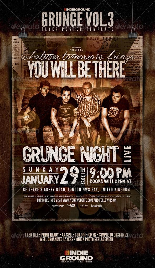 GraphicRiver Grunge Flyer Poster Vol 3 1052783