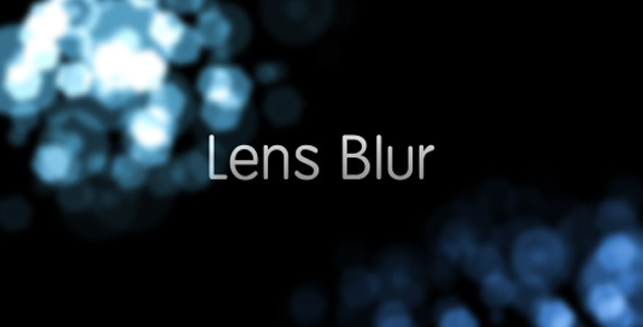 VideoHive Lens Blur Intro 1946685