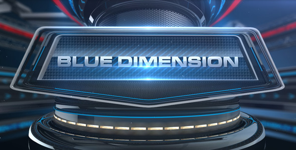 After Effects Project - VideoHive Blue Dimension 1946823