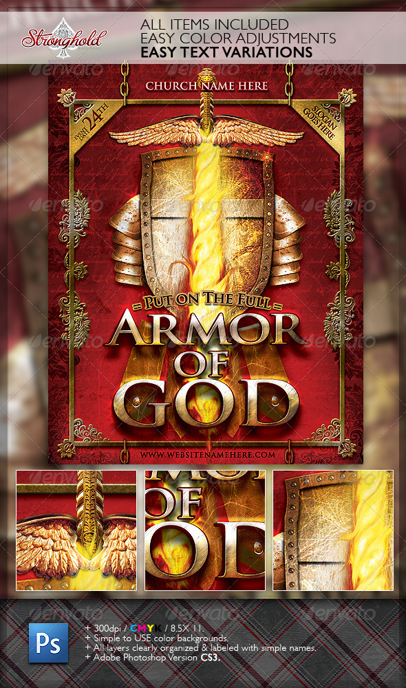 GraphicRiver Armor of God Flyer Template 1947615