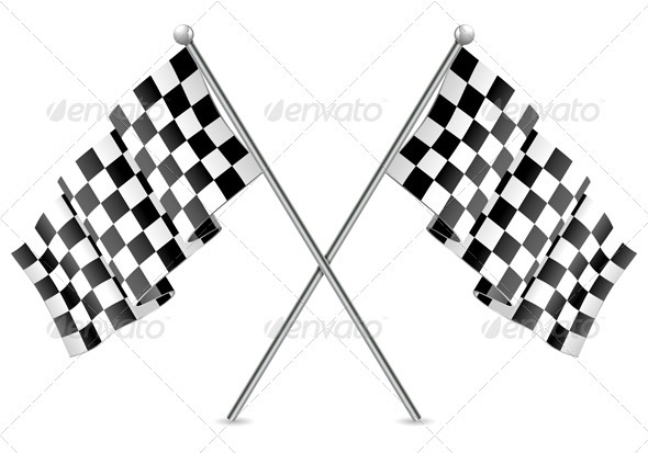 GraphicRiver Racing Checkered Flags Finish 1948426