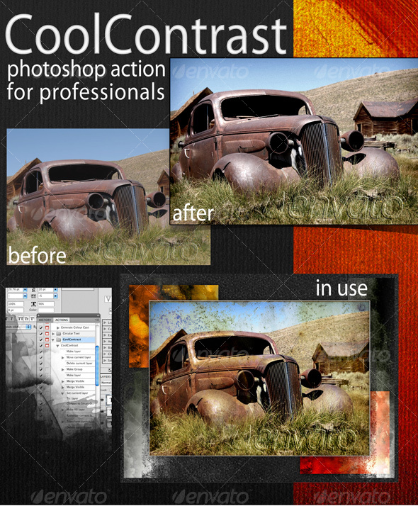 GraphicRiver CoolContrast Photoshop Action 75293