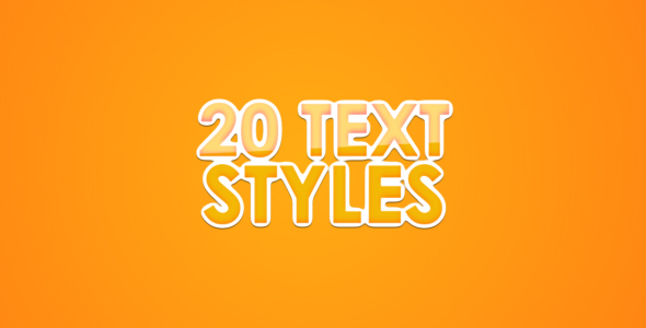 After Effects Project - VideoHive 20 Text Styles for AE 227635