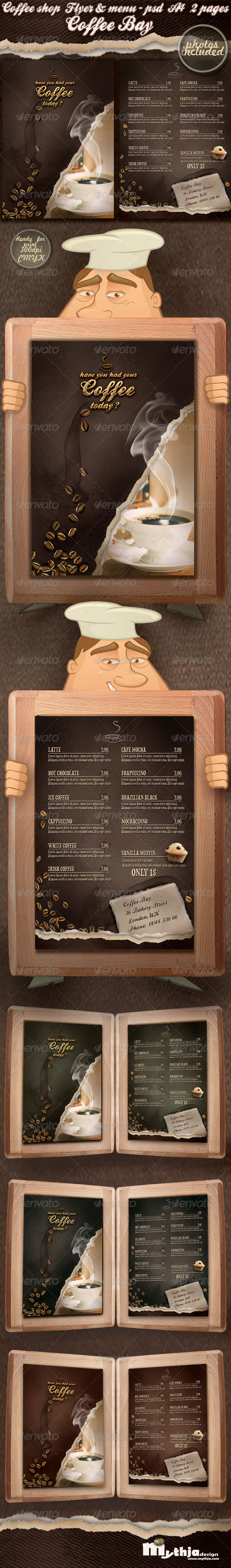 GraphicRiver Coffee shop flyer & menu photos included 1959044