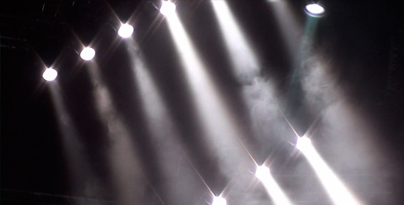 VideoHive Stage Light 13 White Light And Smoke 1959258
