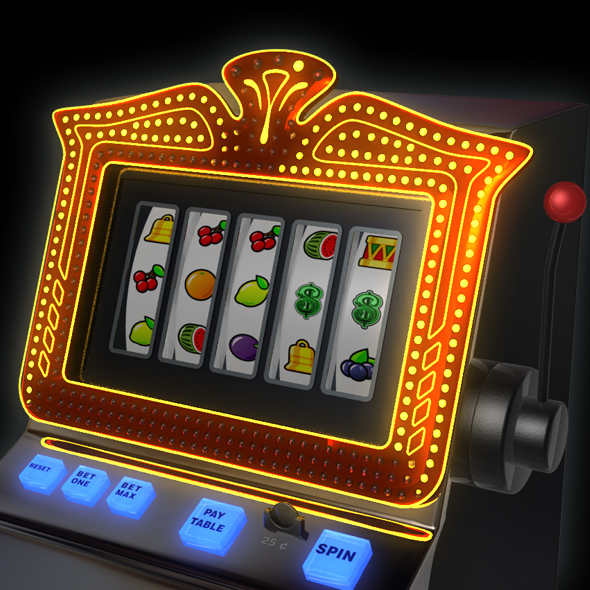 3DOcean Slot Machine animated 3D Models -  Electronics 75494