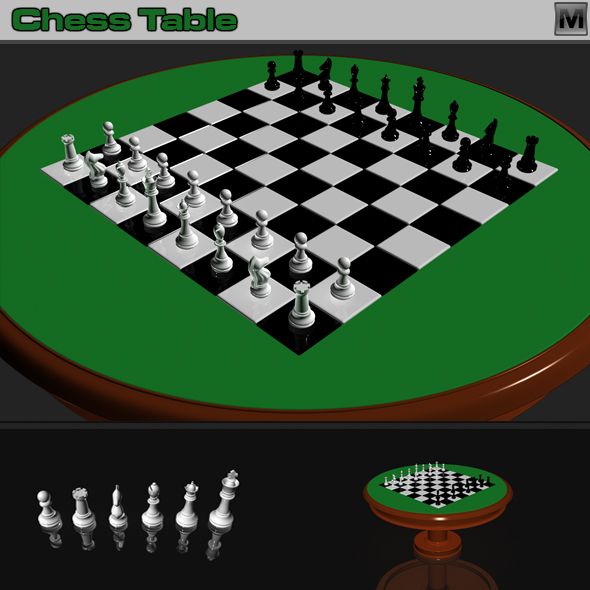 3DOcean Table Chess 3D Models -  Toys and Games 75495