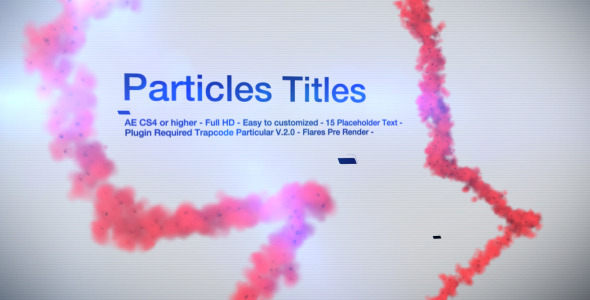 VideoHive Particles Titles 1960496