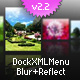 Horizontal Scrolling Dock Icon Menu with Blur&Reflection V2.2 - ActiveDen Item for Sale