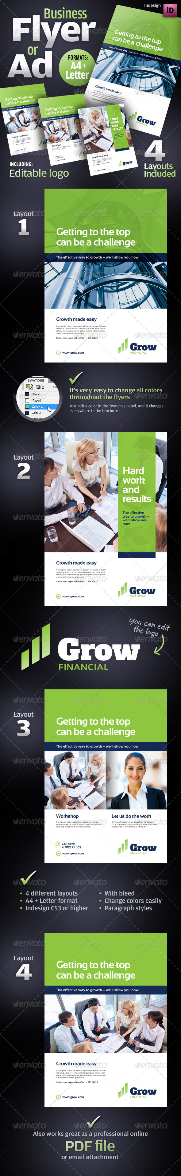 GraphicRiver Corporate Business Flyer Ad Product Sheet 1976332