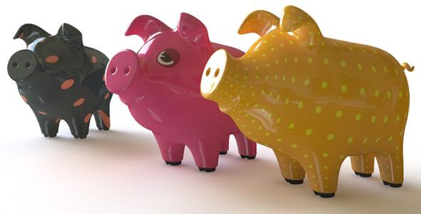 3DOcean Piggy Bank 76011