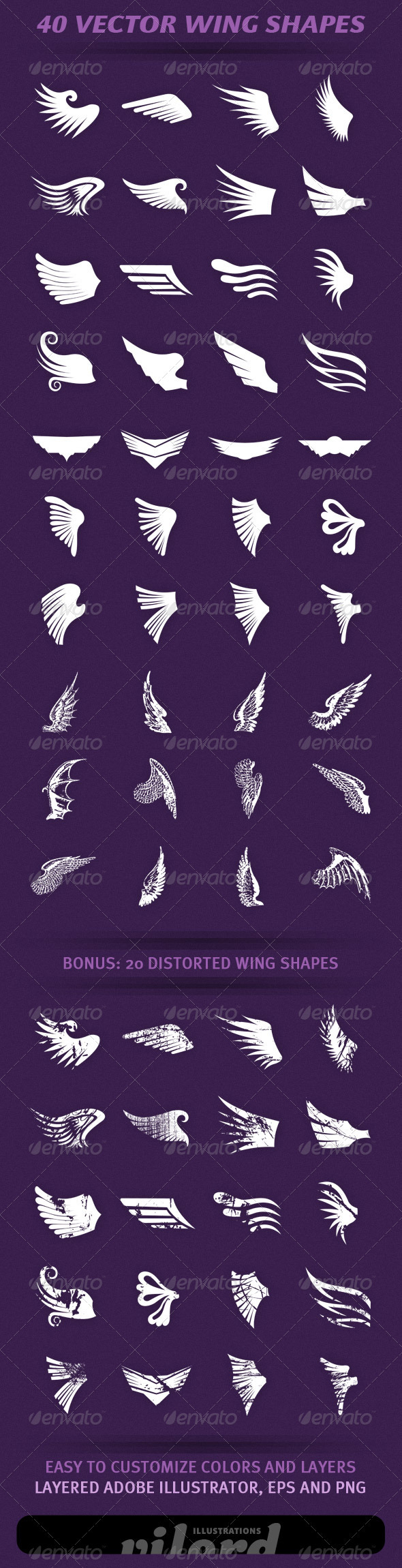 GraphicRiver 40 Wing Shapes 1976862